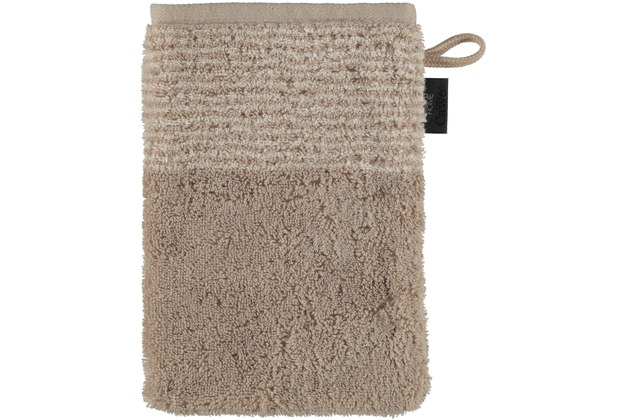 cawö Two-Tone Waschhandschuh sand 16x22 cm