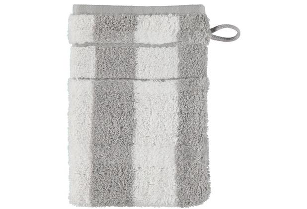 cawö Waschhandschuh platin 16 x 22 cm