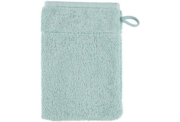 cawö Waschhandschuh seegrün 16 x 22 cm, kleiner Akzent