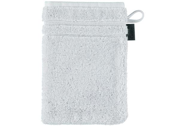 cawö Waschhandschuh sterling 16 x 22 cm, zwei Akzente