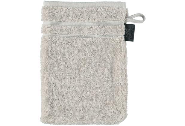cawö Waschhandschuh travertin 16 x 22 cm, zwei Akzente