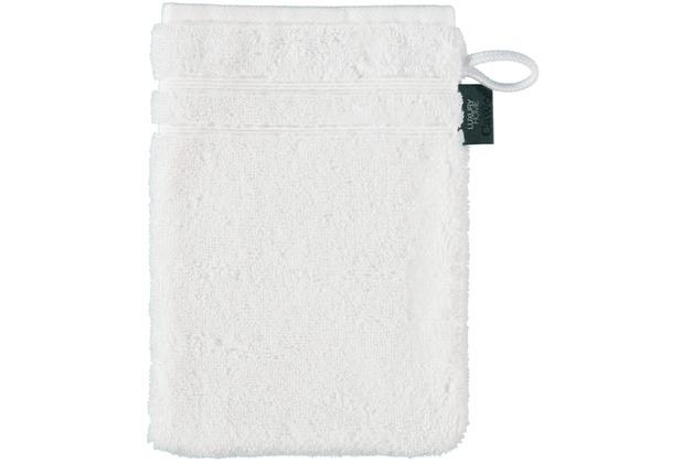 cawö Waschhandschuh weiß 16 x 22 cm