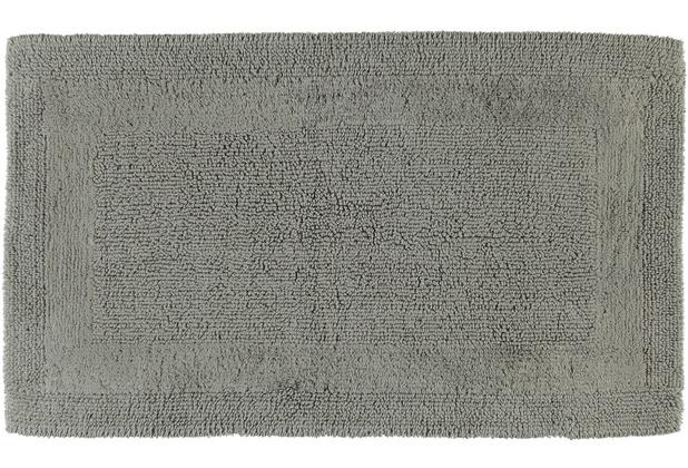 cawö Wende-Badteppich graphit 60 cm x 100 cm