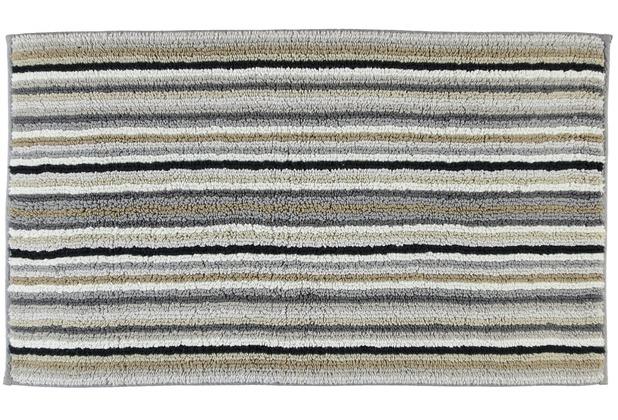 cawö Wende-Badteppich Multicolor dunkel kiesel 60 cm x 100 cm