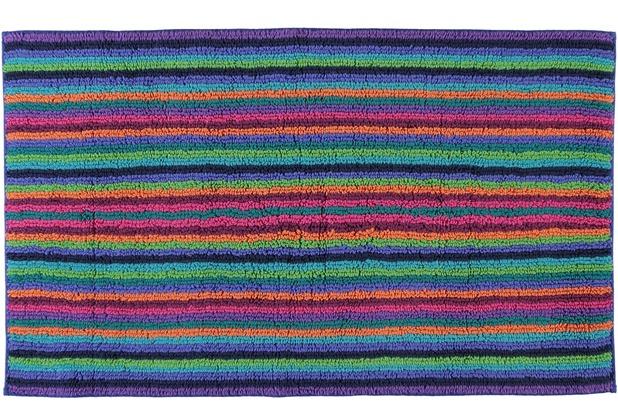 cawö Wende-Badteppich Multicolor dunkel multicolor 60 cm x 100 cm