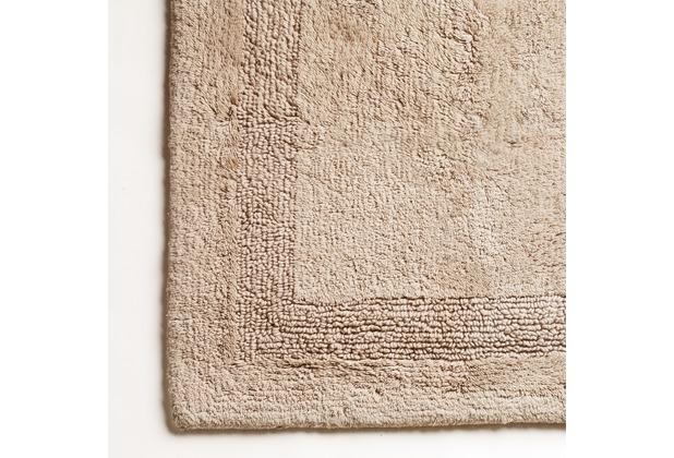 cawö Wende-Badteppich sand 60 cm x 60 cm