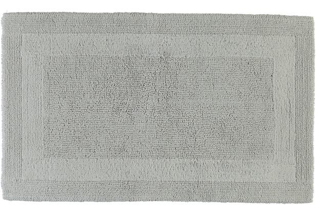 cawö Wende-Badteppich silber 60 cm x 100 cm