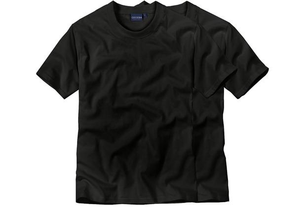 Ceceba O-Shirt 1/2-Arm Doppelpack black 48/S