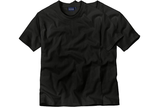 Ceceba O-Shirt 1/2-Arm Doppelpack black 46/XS