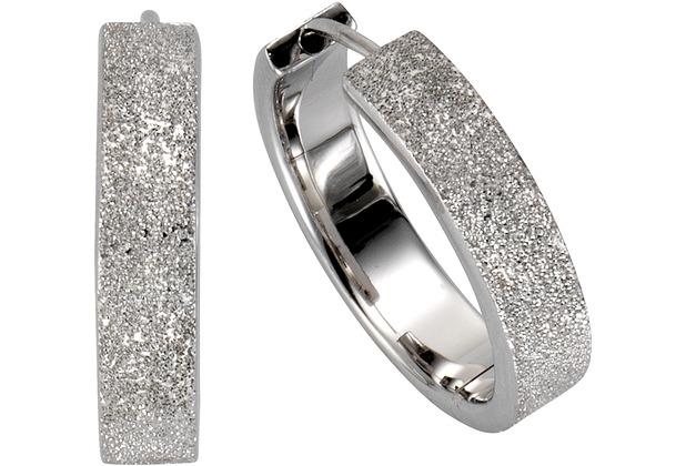 Celesta Silber Creolen 925/- Sterling Silber diamantiert weiß 4005