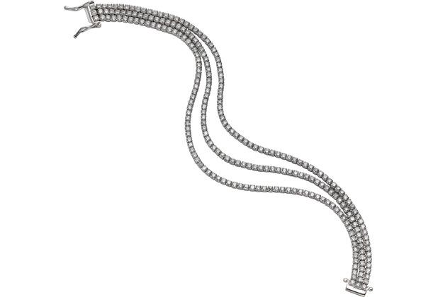 Celesta Silber Armschmuck 925/- Sterling Silber Zirkonia weiß 9417