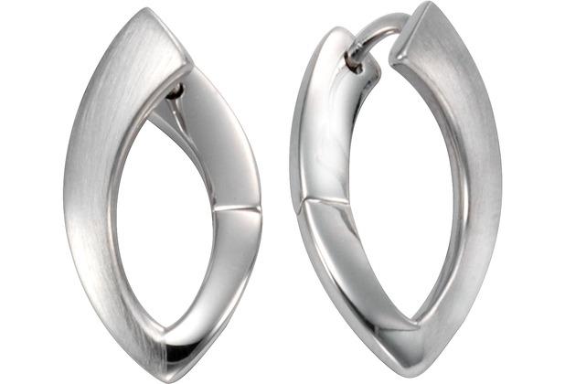 Celesta Silber Klappcreolen 925/- Sterling Silber glanz/matt Silbergrau 9373