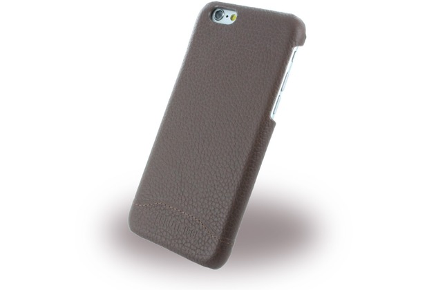 Cerruti 1881 Signature Trim - Leder Hardcase für Apple iPhone 6/6s - Braun