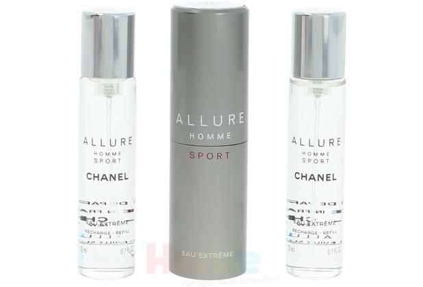 Chanel Allure Homme Sport Eau Extreme Giftset 3x Edp Spray Refill 20Ml - Twist and Spray 60 ml