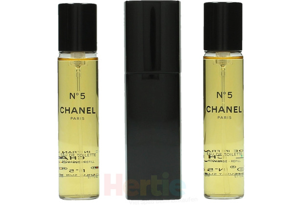 Chanel No 5 Giftset 2x Edt Spray Refill 20Ml / 1x Edt Spray 20Ml- Twist and Spray - Purse Spray 60 ml