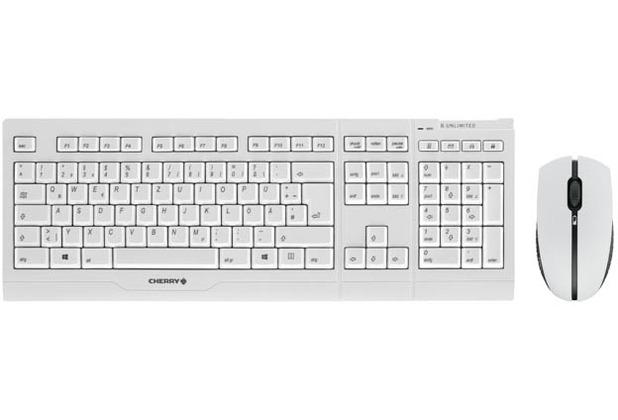 Cherry Tastatur-Maus-Set B.Unlimited 3.0 Desktop (JD-0410DE-0) weiß/grau
