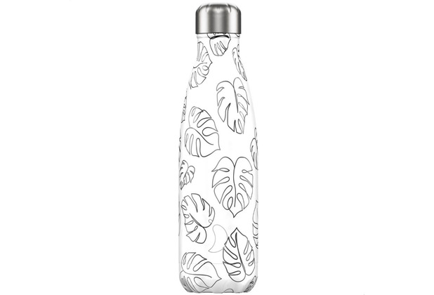 Chillys Isolierflasche Line Drawing Leaves Blätter 500ml