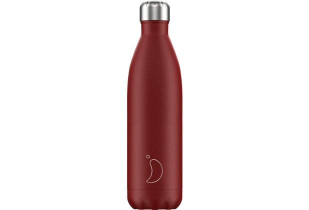 Chillys Isolierflasche Matte Red rot 750ml