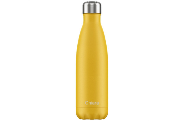 Chillys Isolierflasche MIT GRAVUR (z.B. Namen) Burnt Yellow gelb 500ml