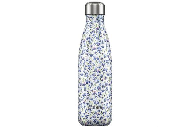 Chillys Isolierflasche MIT GRAVUR (z.B. Namen) Floral Iris Blumenwiese 500ml