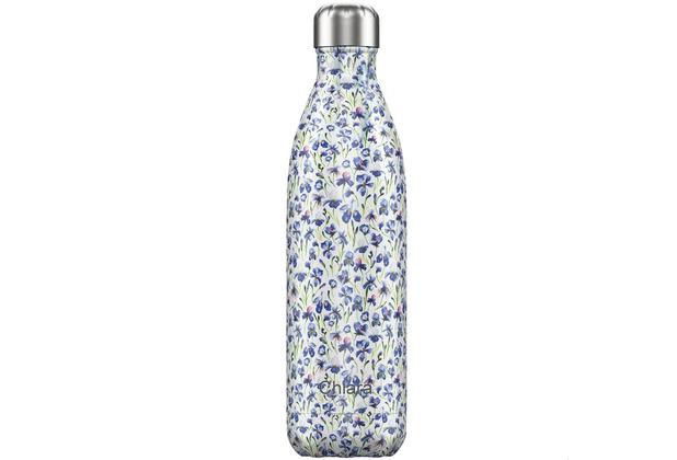 Chillys Isolierflasche MIT GRAVUR (z.B. Namen) Floral Iris Blumenwiese 750ml