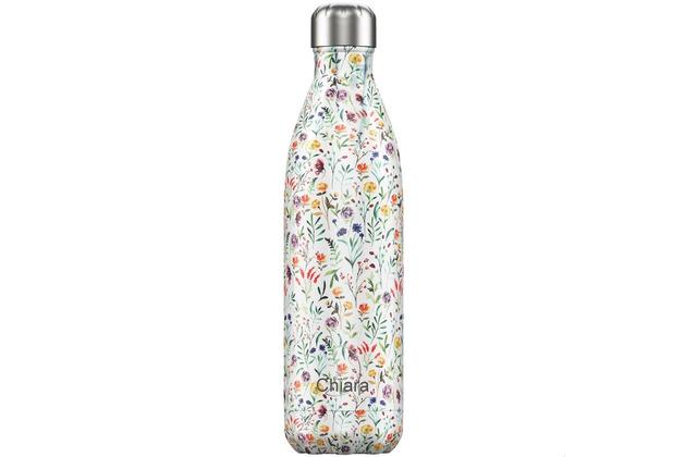 Chillys Isolierflasche MIT GRAVUR (z.B. Namen) Floral Meadow Blumenwiese 750ml