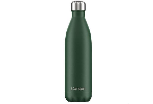 Chillys Isolierflasche MIT GRAVUR (z.B. Namen) Matte Green grün 750ml