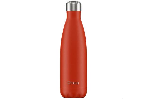 Chillys Isolierflasche MIT GRAVUR (z.B. Namen) Neon Red rot 500ml