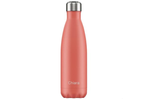 Chillys Isolierflasche MIT GRAVUR (z.B. Namen) Pastel Coral 500ml