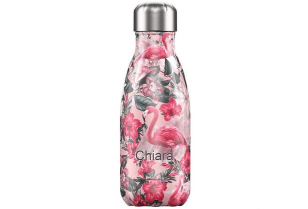 Chillys Isolierflasche MIT GRAVUR (z.B. Namen) Tropical Flamingo 260ml