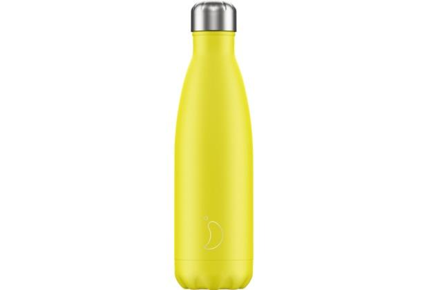 Chillys Isolierflasche Neon Yellow gelb 500ml