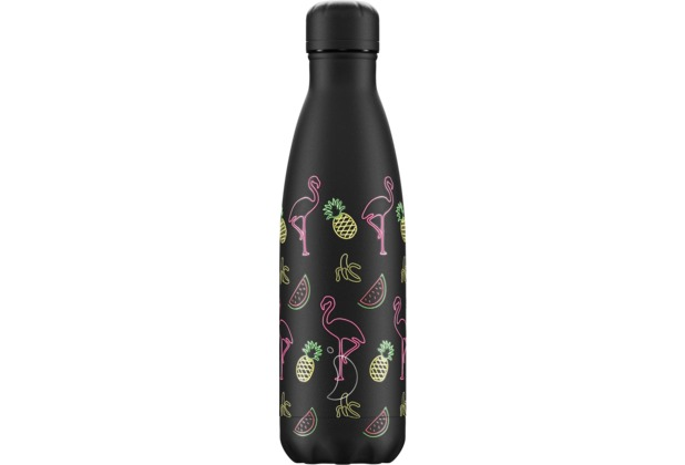 Chillys Isolierflasche Pool Party Flamingo Night 500ml