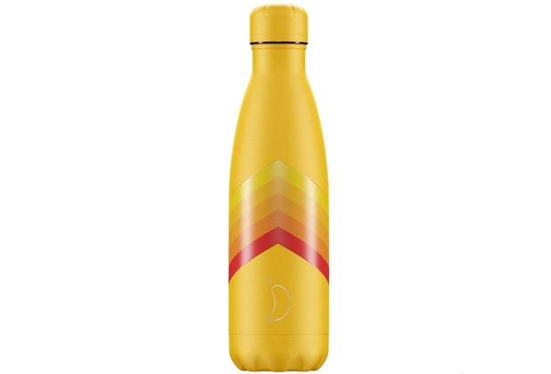 Chillys Isolierflasche Retro Zigzag gelb 500ml