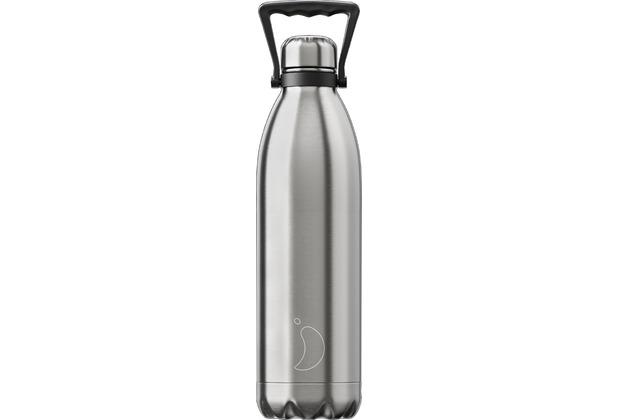 Chillys Isolierflasche Stainless Steel Silver Edelstahl 1,8 Liter (1800ml) XXL