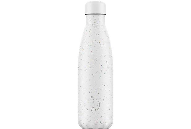 Chillys Isolierflasche Weiß gepunktet Speckled White 500ml