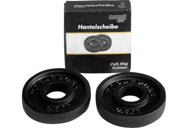 Christopeit Hantelscheibe 0,50 kg (Paar)