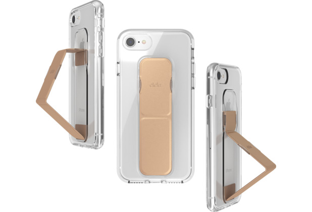 CLCKR Gripcase FOUNDATION for iPhone 6/6S/7/8 clear/rose gold colored