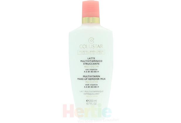Collistar Multivit. Make-Up Remover Milk Face-Eyes Special Normal And Dry Skin - Makeupentferner-Milch 200 ml