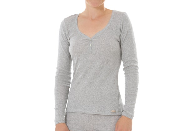 comazo Fairtrade Damen Shirt 1/1 Arm grau-melange 36