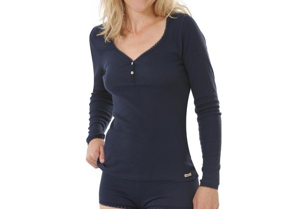 comazo Fairtrade Damen Shirt 1/1 Arm marine 36