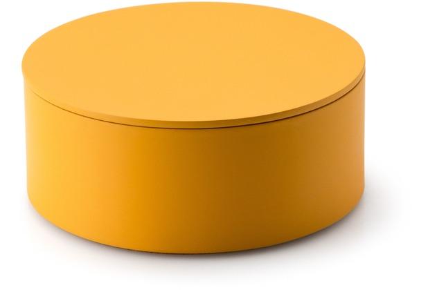 Continenta Aufbewahrungs-Set, 1 Dose mit Deckel, maisgelb Ø 19 x 8 cm