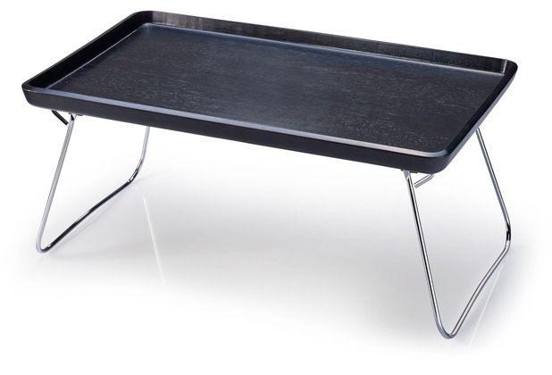 Continenta Bett-Tablett schwarz lackiert 53 x 32 x 7 cm