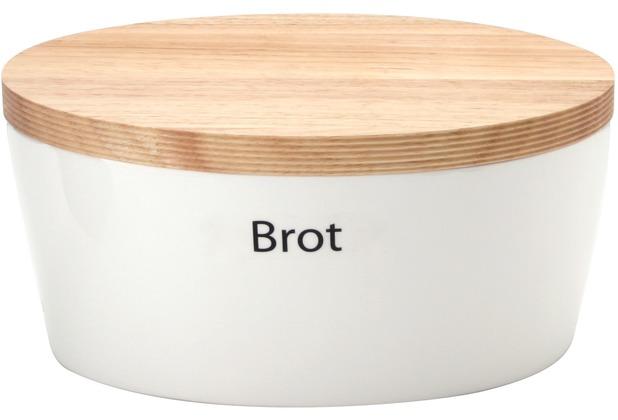 Continenta Brottopf oval mit Holzdeckel 27 x 20 x H 13,5 cm
