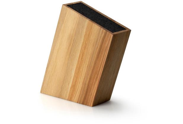 Continenta Messerblock mit flexiblem Einsatz schräg, Eiche 28,5 x 8 cm