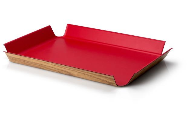 Continenta Rutschfestes Tablett, rot 41 x 29,5 cm
