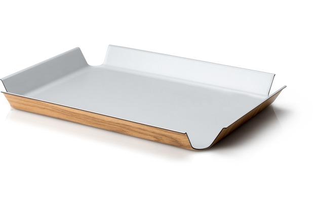 Continenta Rutschfestes Tablett, silber metallic 41 x 29,5 cm