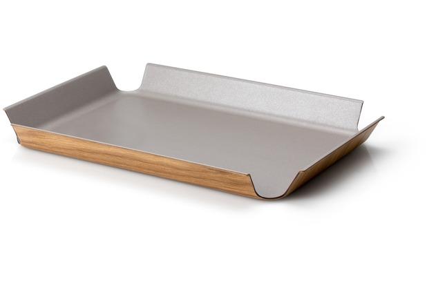 Continenta Rutschfestes Tablett, taupe metallic 45 x 34 cm