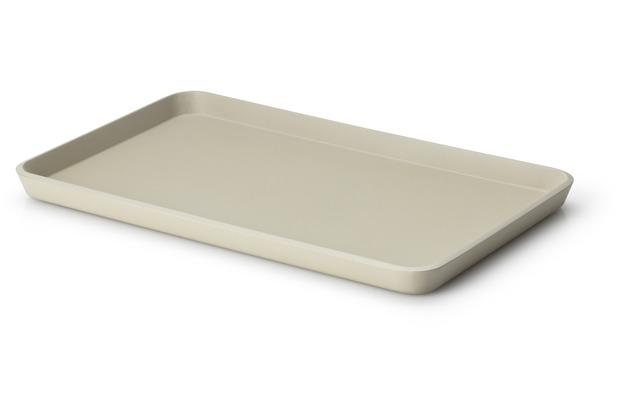 Continenta Tablett, Lack, kiesel 34 x 21 x 2 cm