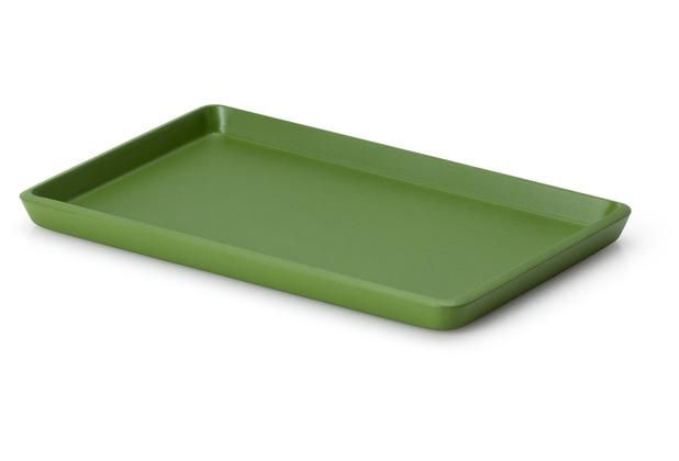 Continenta Tablett, Lack, smaragdgrün 22 x 13,5 x 1,2 cm