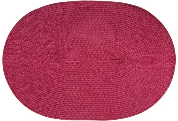 Continenta Tischset oval rubin 45 x 31 cm